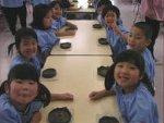 幼稚園での出張体験。みんな上手だったよ。